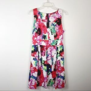 Milly For Design Nation Floral Watercolor Dress